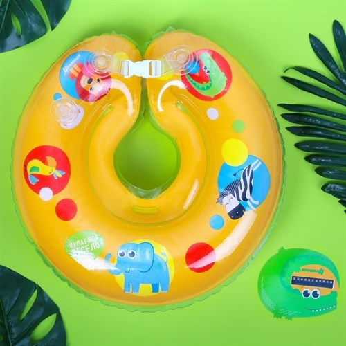 Детский набор для купания «Африка», 2 предмета: круг + термометр - фото 103086680