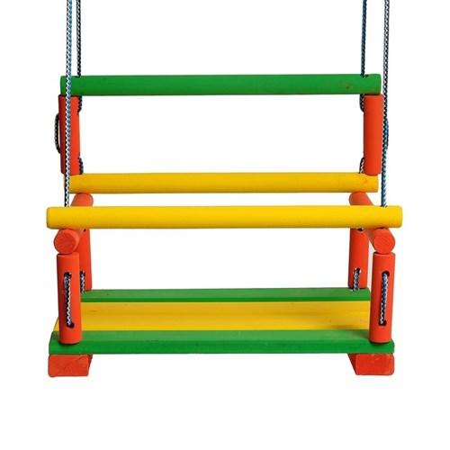 Качели детские подвесные, деревянные, сиденье 30?40см - фото 104346360
