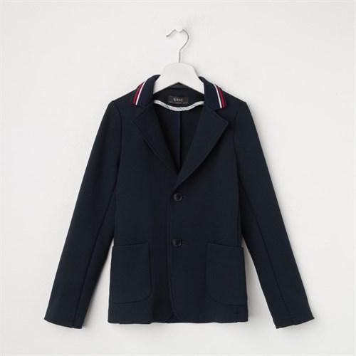 Пиджак для мальчика, цвет тёмно-синий, рост 128 см (60) - фото 105481896