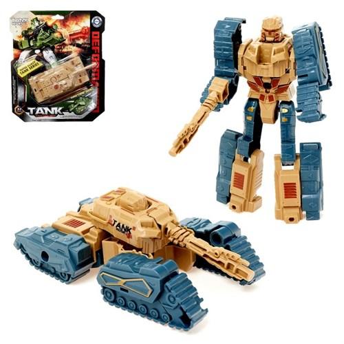 Робот «Танк», трансформируется, цвета МИКС - фото 105503884