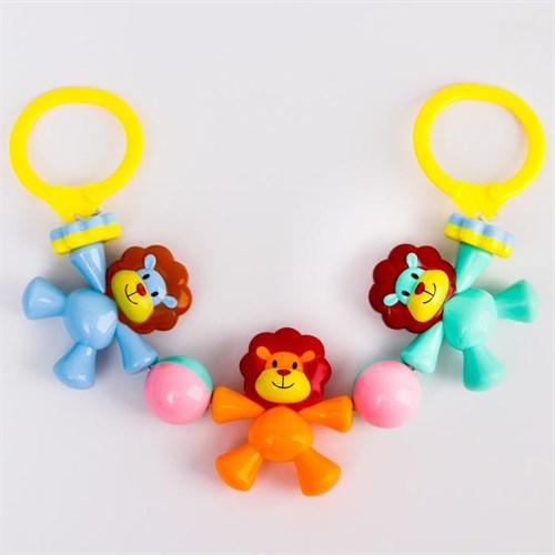 Растяжка на коляску/кроватку «Львята», 3 игрушки, цвет МИКС - фото 105523995