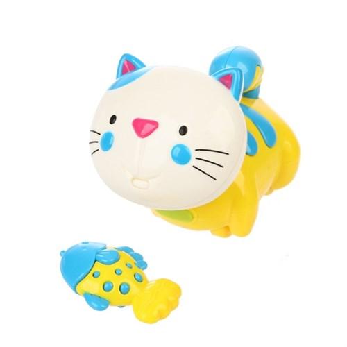Игрушка развивающая «Котёнок с рыбкой» МИКС - фото 105527630