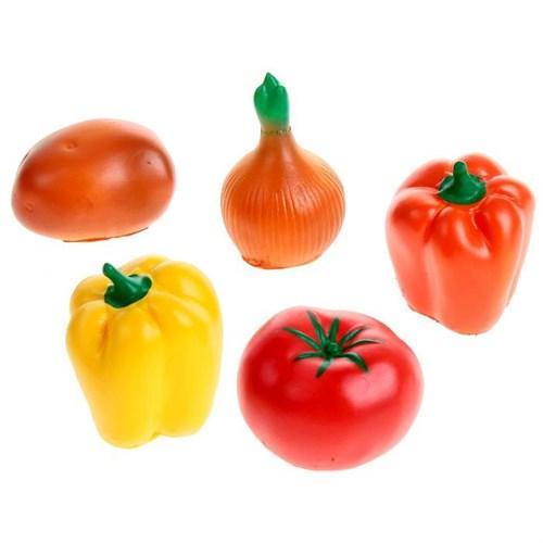 Набор резиновых игрушек «Овощи», МИКС - фото 105536793