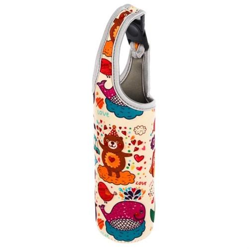 Термосумка «Счастье», для бутылочки до 330 мл, цвет бежевый - фото 105539847