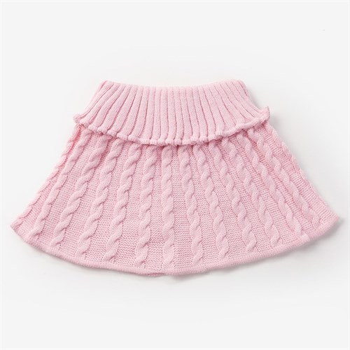 Шарф-манишка для девочки, возраст 3-8 лет, цвет св.розовый - фото 105568018