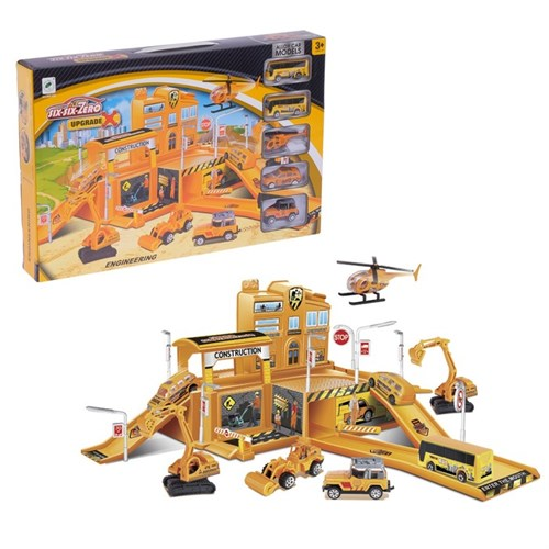 Парковка «Строительство здания», 4 машины + 1 вертолет - фото 105644268