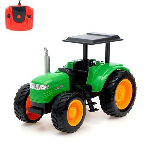 Трактор радиоуправляемый «Фермер», работает от аккумулятора, световые эффекты, цвета МИКС - фото 105647900