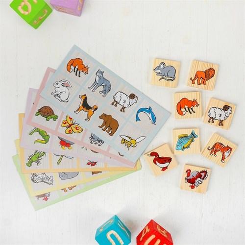 Лото «Животный мир» 6 карточек в наличии - фото 106087942