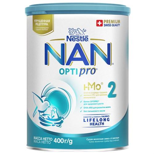 NAN 2 OPTIPRO смесь для роста, иммунитета и развития мозга 400 г с 6мес - фото 106396317