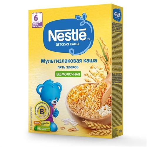 Каша Nestle Безмолочная мультизлаковая 5 злаков с 6 мес 200г с бифидобактериями BL - фото 87343182