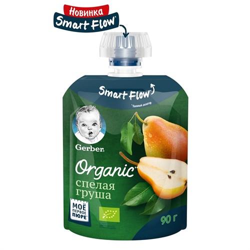 Gerber Organic Фруктовое органическое пюре Спелая Груша с 4мес 90г пауч - фото 87343220