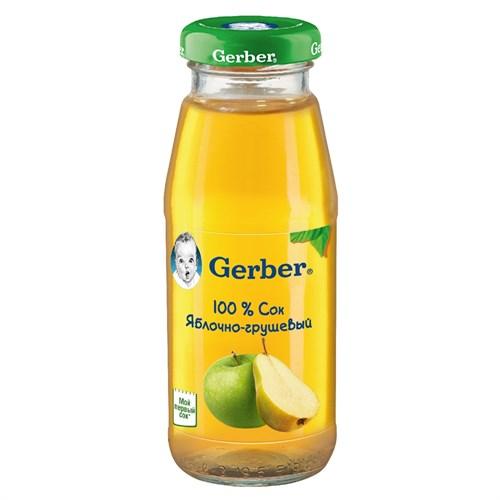 Gerber Сок яблочно-грушевый осветленный первая ступень 175 мл - фото 87343229