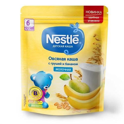 Каша Nestle Молочная овсяная с грушей и бананом с 6 мес 220г с бифидобактериями BL - фото 87343249