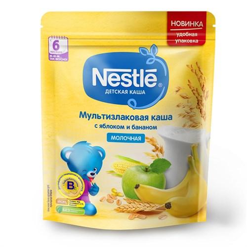 Каша Nestle Молочная мультизлаковая с яблоком и бананом с 6 мес 220г с бифидобактериями BL - фото 87343250