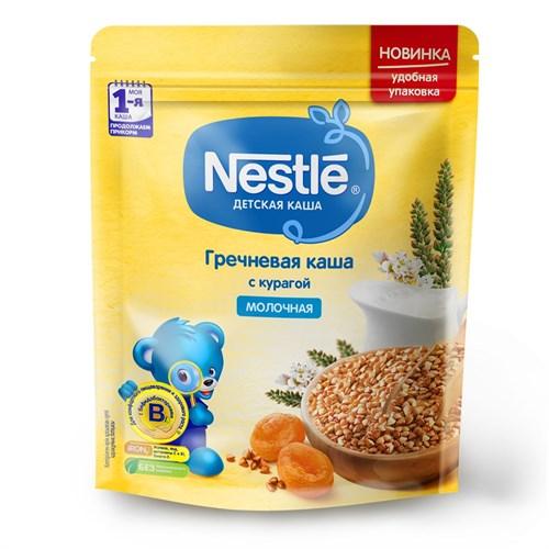 Каша Nestle Молочная гречневая с курагой для продолжения прикорма BL 220г с бифидобактериями BL - фото 87343252