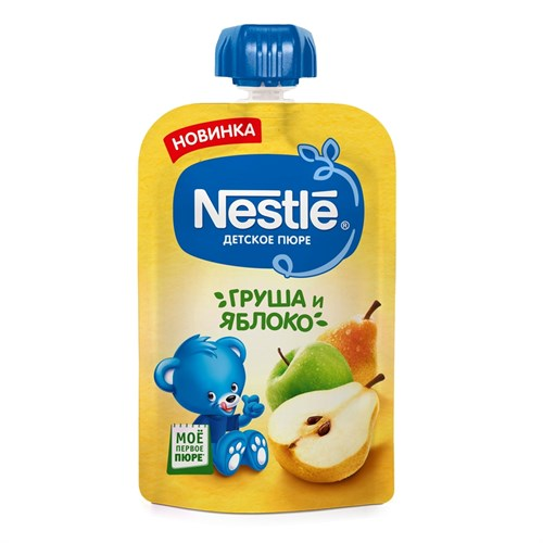 Nestle Груша Яблоко Пюре пауч с 5мес 90г - фото 87343285