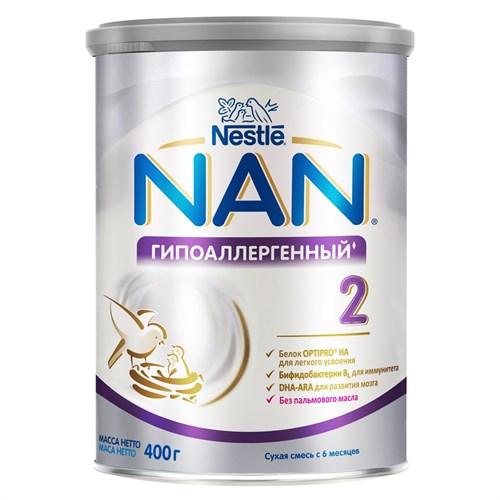 NAN Гипоаллергенный 2 OPTIPRO HA смесь для профилактики аллергии 400 г с 6мес для здоровых детей - фото 87343314