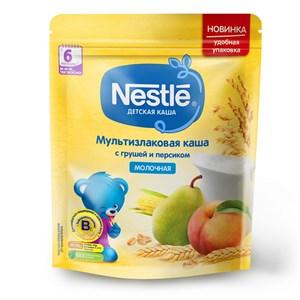 Каша Nestle Молочная мультизлаковая с грушей и персиком с 6 мес 220г с бифидобактериями BL ПР