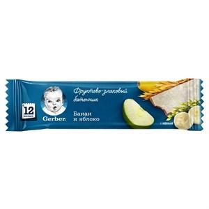 Gerber Фруктово-злаковый батончик с яблоком и бананом с 12мес 25 г ПР