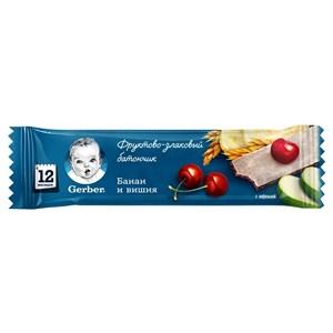 Gerber Фруктово-злаковый батончик с вишней и бананом с 12мес 25г ПР