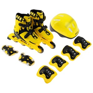 Набор ролики раздвижные + защита, размер 30-33, колёса PVC 64 мм, пластиковая рама