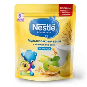 Каша Nestle Молочная мультизлаковая с яблоком и бананом с 6 мес 220г с бифидобактериями BL ПР