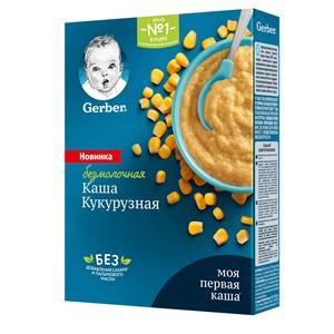 Каша Gerber безмолочная кукурузная для начала прикорма, 180г