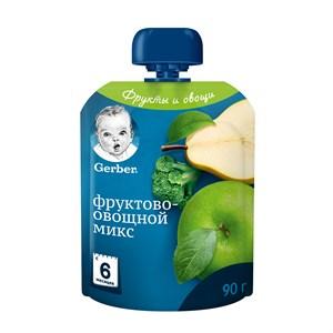 Gerber Фруктово-овощное пюре Фруктово-овощной микс с 6мес 90г пауч