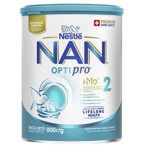 NAN 2 OPTIPRO смесь для роста, иммунитета и развития мозга 800 г с 6мес