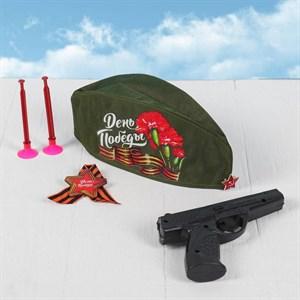 Карнавальный набор «День Победы», для детей, пилотка, брошь, значок, пистолет, 2 стрелы