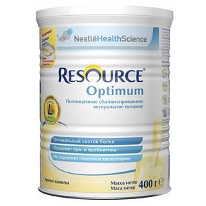 Resource Optimum (Ресурс Оптимум), сбалансированное полноценное питание с ароматом ванили для детей с 7 лет и взрослых, 400 г