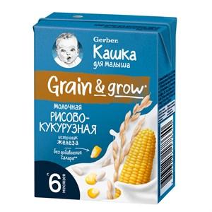 Готовая каша Gerber «Кашка молочная рисово-кукурузная» с 6 мес, 200 мл
