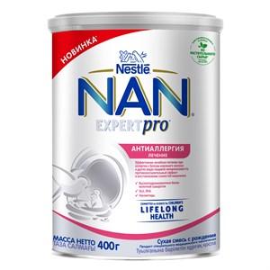 NAN ExpertPro Антиаллергия сухая смесь для лечения аллергии с рождения, 400 г