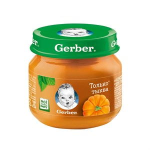 Gerber Овощное пюре Только Тыква первая ступень 80г