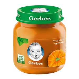 Gerber Овощное пюре Только Тыква первая ступень 130г