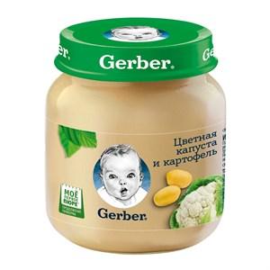 Gerber Овощное пюре Цветная капуста и картофель первая ступень 130г