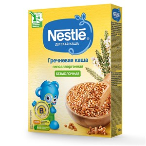 Каша Nestlé Безмолочная гречневая гипоаллергенная для начала прикорма 200г с бифидобактериями BL