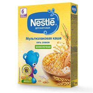 Каша Nestle Безмолочная мультизлаковая 5 злаков с 6 мес 200г с бифидобактериями BL