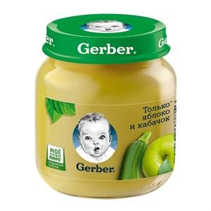 Gerber Овощное пюре Только Яблоко и Кабачок первая ступень 130г