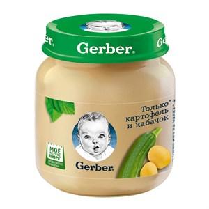 Gerber Овощное пюре Только Картофель и Кабачок первая ступень 130г