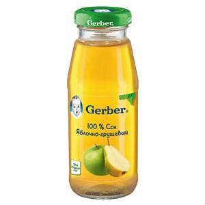 Gerber Сок яблочно-грушевый осветленный первая ступень 175 мл