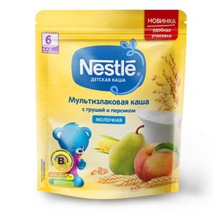 Каша Nestle Молочная мультизлаковая с грушей и персиком с 6 мес 220г с бифидобактериями BL
