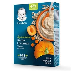 Каша Gerber Безмолочная овсяная с тыквой, абрикосом для продолжения прикорма 180г с бифидобактериями