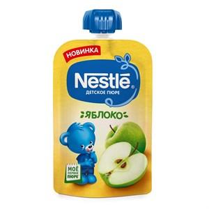 Nestle Яблоко Пюре пауч с 4мес 90г