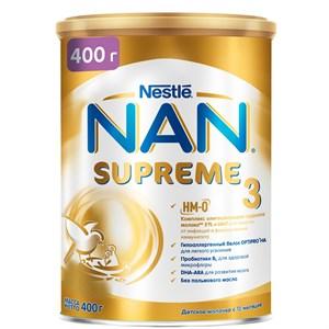 NAN® 3 SUPREME детское молочко с олигосахаридами для защиты от инфекций, 400г, с 12 мес