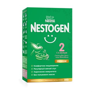 Nestogen 2 смесь для регулярного мягкого стула с 6 месяцев, 300 г